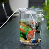 Wholesale Ecological cylindrical mini office fish tank