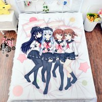 air conditioner fittings - New Animation Anime Bedding Bed Sheet x200 Air Conditioner Blanket Quilt Flannel Mattress Cover Kantai Collection