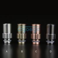 Wholesale 510 Drip tips Mouthpieces Stainless Steel Wide Bore Drip Tip Bronze Copper Metal Drip Tip for ce4 ce5 vivi nova protank aerotank genitank