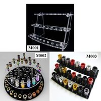 acrylic show cases - Acrylic drip tip display shelf e cigarette stand for drip tips ecig display holder show case ego holder rack atomizer display stands