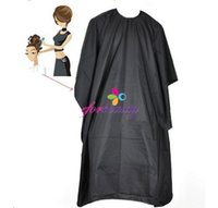Wholesale Black Soft Pro Salon Barber Wrap Coloring Hairdressing Gown Hair Cut Cape Gown New Hot Selling