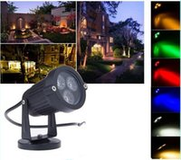 Wholesale AC V W LED Garden Wall Pond light Flood IP65 waterproof LED Lawn Lamps Spot light with Base Landscape Yard Path Spot Light