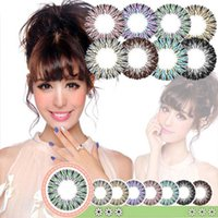 Wholesale DHL Clear Colorful Halloween Contact Lens Big Diameter Fruitcolor Candy Color Contact Lenses Lens prescription Lens Cosmetic Eye Lens