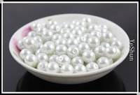Wholesale Black white Pearls Loose Bead mm Fit European Bracelets Necklace Pearl Beads DIY Fashion Jewelry