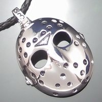 black friday - New Stainless Steel Black Friday Hockey Jason Mask Pendant Necklace With Chain Men Jewelry