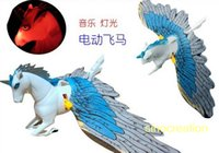 animal sounds horse - Plastic Electronic Pegasus Flying With Light Sound Electric Animal Pet Toys Great Gifts For Kids