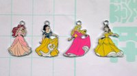 Wholesale x Snow White Princess Cinderella Enamel Metal Charms Pendants Necklace Jewelry Making