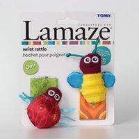 Wholesale Lamaze High Contrast Garden Bug Wrist Rattles Baby Girl Boy ladybug bee toys L0390C