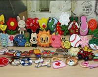 Wholesale 24 random styles embroidered fabric Iron on Sew on cartoon sticker patches badges for kids clothing D082007002