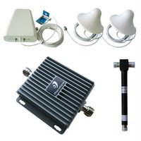 aws signal booster - 65dB MHz Dual band Cell Phone Signal Booster Complete Kit for G GMS AWS Network