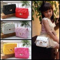 Wholesale NEW baby kids girls s Shoulders Bag handbag Messenger girl girls children PU leather bags MINI woman plaid Chain bag