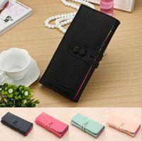 Wholesale Cute Candy Color Clutch Checkbook Change Bag Women s Purse Handbag Ladies Wallet