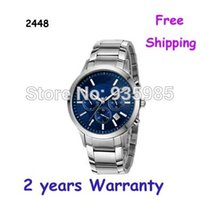 Wholesale NEW CHRONOGRAPH MEN S WATCH AR2448 BLUE DIAL WATCH