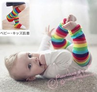 arm gloves kids - Baby Rainbow Long Leg Arm Warme For Kids Girls Over Knee Sock Cotton Arm Sleeve Cover Boys Wrist Warmers