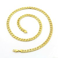 Wholesale Brand brass material korean Llink cm necklace pendants men chains real gold necklace chains good quality for gift