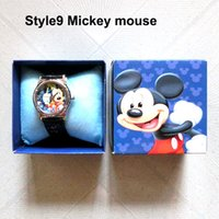 Wholesale Mickey Mouse Bracelets Watches Wristwatch Minnie Mouse Crystal Watch Fashion Luxury Watch For Kids Children Mixed Order Free DHL Factory