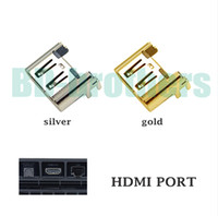 Wholesale Original Gold Silver HDMI Port Socket Interface Connector for Playstation PS4 Slim
