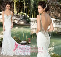 beach kitty - Gorgeous Ivory Wedding Dresses KITTY CHEN Backless Beach Bridal Gowns Mermaid Sweetheart Appliques Country Court Train Vintage Garden