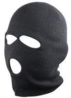 Wholesale 3 Holes Black Balaclava SAS Style Mask Neck Warmer Ski Hat Paintball Fishing