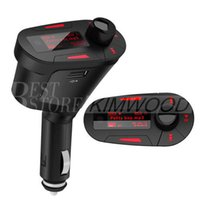 Wholesale New Car Kit MP3 Player Wireless FM Transmitter Modulator wma wireless USB SD MMC LCD With Remote Blued Light