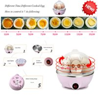 Wholesale 1Pcs kitchen appliances eggs Capacity Automatic Shut off Electric Rapid Egg Cooker With Water Measuring Cup