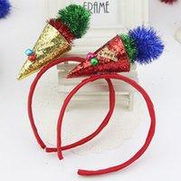bell ice cream - Xmas Decor Sequin Ice Cream Bell Kids Girl Headband Headwear Christmas Gift