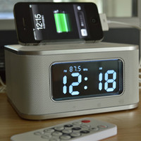 audio base - S1 bt bluetooth speaker bedside alarm clock mobile phone usb charge base hands free bluetooth mini audio Black White