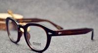 Wholesale esigner Retro Men sunglasses Vintage frames Johnny Depp Eyeglasses coffee frame