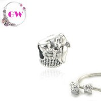 Silver Animals Pink sleepy pet dog silver charms style loose beads fit 925 silver European bracelets No90 free shipping T164