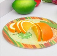 Wholesale FBH052520 creative kitchen utensils grind arenaceous toughened glass thickening chopping board new design cutting boards