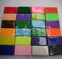 Wholesale 24 Colorful fimo Effect Polymer Clay Blocks Soft Moulding Craft Creative Fun