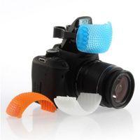 Wholesale 1set pc Multicolor Pop Up Flash Diffuser Cover for Canon Nikon Pentax Kodak DSLR SLR Camera