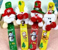 Wholesale New Hot Selling Christmas Gift Xmas Santa Claus Snowman Toy Slap Pat Circle Bracelet Wristhand Christmas Tree Decoration Ornament J2628