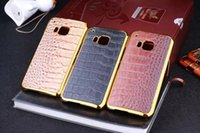 Precio de Snake skin-Cuero de cocodrilo electrochapa la caja dura del cromo de la serpiente de chapa de encolado para Samsung Galaxy S6 EDGE HTC ONE M7 M8 M9 LG piel G3 del teléfono celular de lujo