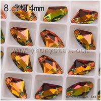 achat en gros de moyen vitrail-galactique Vitrail Medium Couleur 8.5 * 14mm 144pcs meilleurs strass cristal de qualité Coudre strass