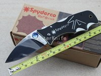 spyderco - High Quality Best Spyderco CNC Folding Pocket Knife c Blade HRC Outdoor Survival Knife For Tactical Camping Hand Tool