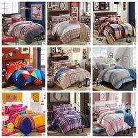 baby duvet sets - 5SET LJJH846 Cotton Baby kid Cartoon striped plaid Pattern Bedding Set bed linens bed cover duvet cover Home Textile