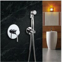 bidet mixers - And Retail Chrome Brass Cold Hot Mixer Tap W Hand Shower Sprayer Toilet Clearing Bidet Faucet