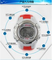 Wholesale Hot sale LCD waterproof wristwatches for children colorful light sport watch different festival gift for kids