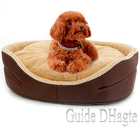 Wholesale Coffee Color Pet Bed Soft Kennel For Dogs Pet House Cotton Cat Warm Bed With Mat Suitable For Travel