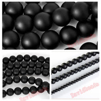 Wholesale 5A Quality Black Frost Dull Polish Matte Onyx Agate Round natural Stone Beads quot Strand MM For Jewelry Making