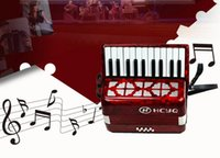 Wholesale 22 key bass accordion keyboard type entry level students to practice the accordion Bass