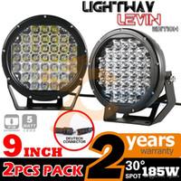 Wholesale 2pcs Inch W CREE LED Work Light Bar Offroad Driving Fog Spot Light ATV SUV X4 Van Truck Trailer Car Headlight Spotlight