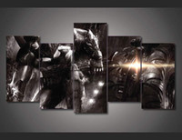 asian art posters - 5Pcs With Framed Printed Batman Movie Painting on canvas room decoration print poster picture asian art