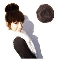 Wholesale Synthetic Hairbun New Fashion Ladies Hair Accessories hair extension Hair Bun colors available Hot sale