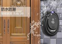Wholesale Hot Sale EU Plug V Tones Smart Home Door bell Receiver m Range High and Low volume Waterproof Button Wireless doorbell