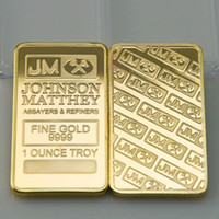 america banks - 2 America JM Johnson Matthey bank Morgan gold plated bullion bar