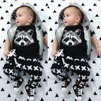 baby leggings set - 2015 Baby Girls Boys Fox Cotton Tops T shirt Pants Leggings Outfits Set Costume