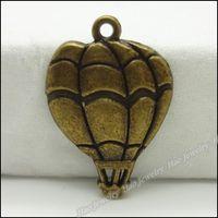Wholesale 80pcs Vintage Charms Hot Air Balloon Pendant Antique bronze Zinc Alloy Fit Bracelet Necklace DIY Metal Jewelry Findings