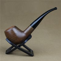 Cheap Wholesale-14cm Wooden Smoking Tobacco Pipe Weed Pipes of Tobacco Briar Pipe for men's Gift Smoking Tools